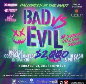 our flyer to Bad Vs Evil Event