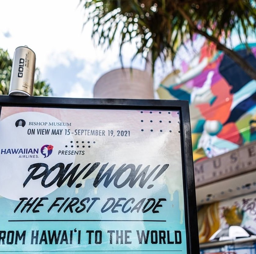 """@bishopmuseum Experience @powwowworldwide in a whole new way! @hawaiianairlines """"POW! WOW! The First Decade: From Hawaiʻi to the World, presented by Hawaiian Airlines.""""#PowWowDecade #PowWowHawaii#BishopMuseum #HawaiisMuseum - from Instagram"""